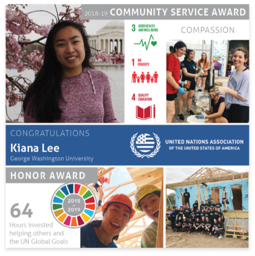 College Service Award