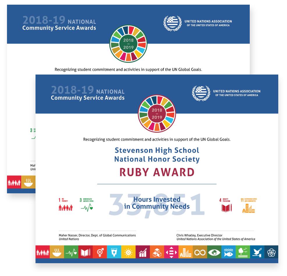 Service Award Certificate